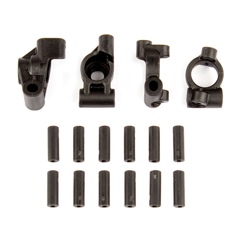 Rear Hubs Caster Blocks and Inserts: 14B, 14T