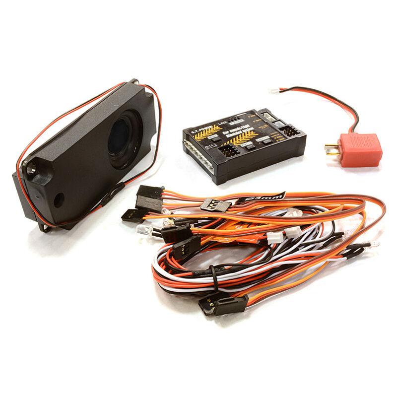 G.T.Power Car Sounds Light System 6 LED 40 Voices
