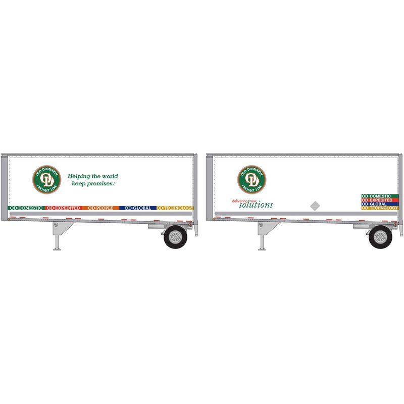 HO RTR 28' Trailers with Dolly Old Dominion (2)