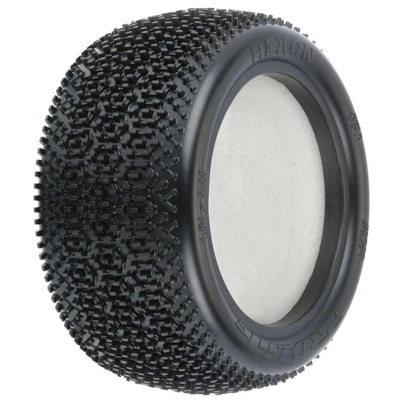 """1/10 Hexon Z4 Rear 2.2"""" Carpet Buggy Tires (2)"""