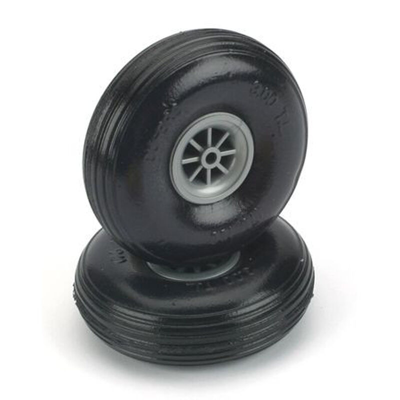 """Treaded Lite Wheels, 3-1/4"""" (2)"""
