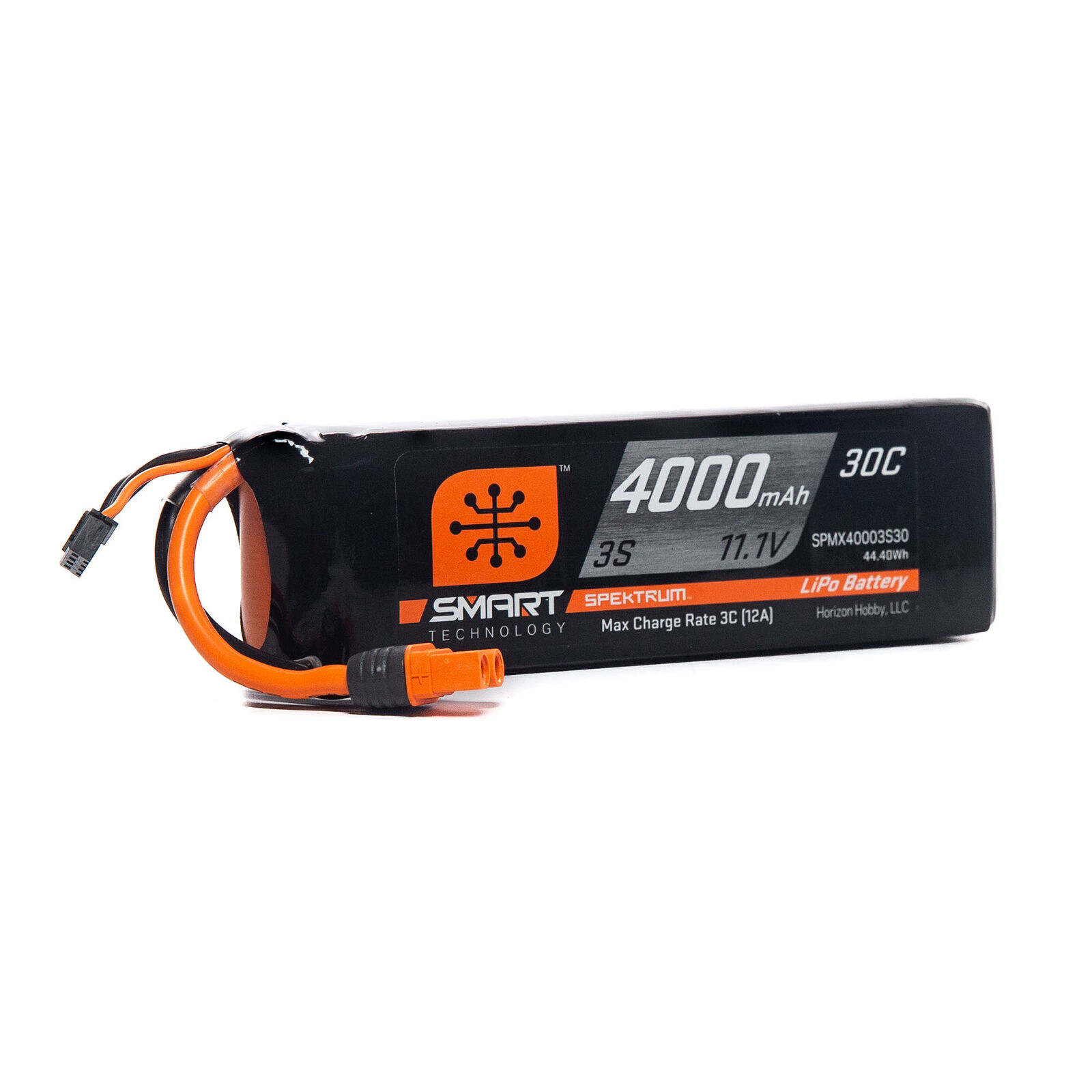 11.1V 4000mAh 3S 30C Smart LiPo Battery: IC3