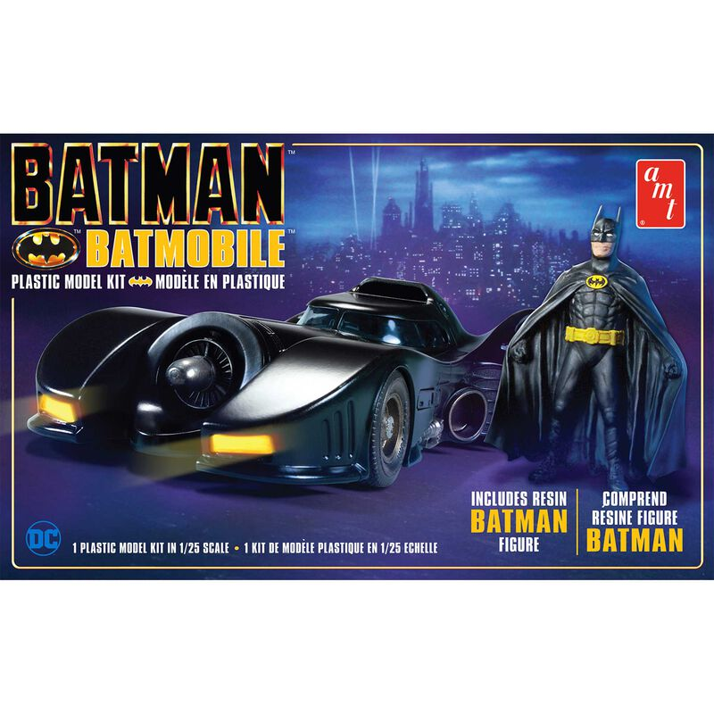 1 25 1989 Batmobile w Resin Batman Figure