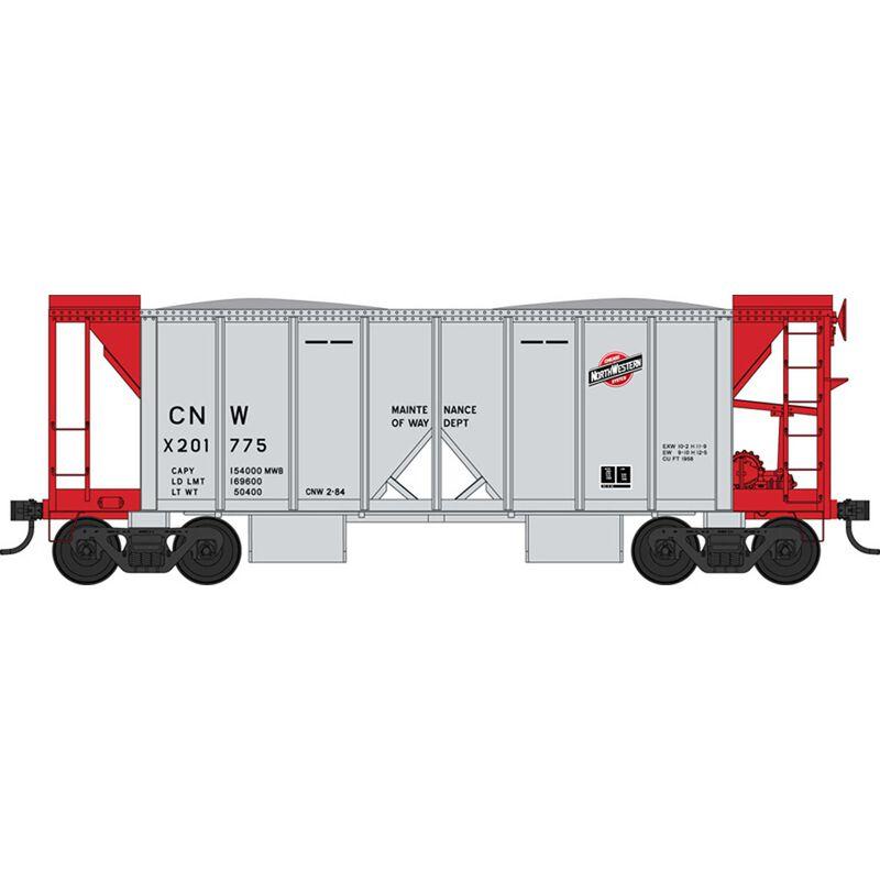 HO 70 Ton 2 Ballast Car w/ Side Chute C&NW X201775