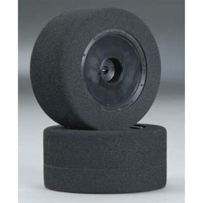 1/10 Foam Custom Works Dirt Oval Rear Mounted Tires, Orange (2)