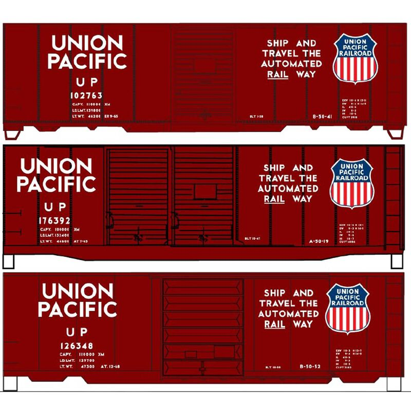 40' Steel Boxcar 3-Car Set HO