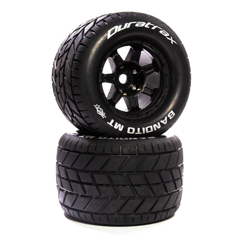 """Bandito MT Belt 3.8"""" Mounted Front/Rear Tires .5 Offset 17mm, Black (2)"""