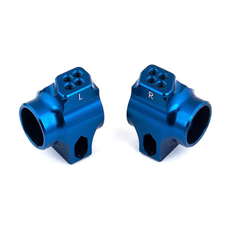 Factory Team: Aluminum Rear Hub Set, Blue: B6, B6D