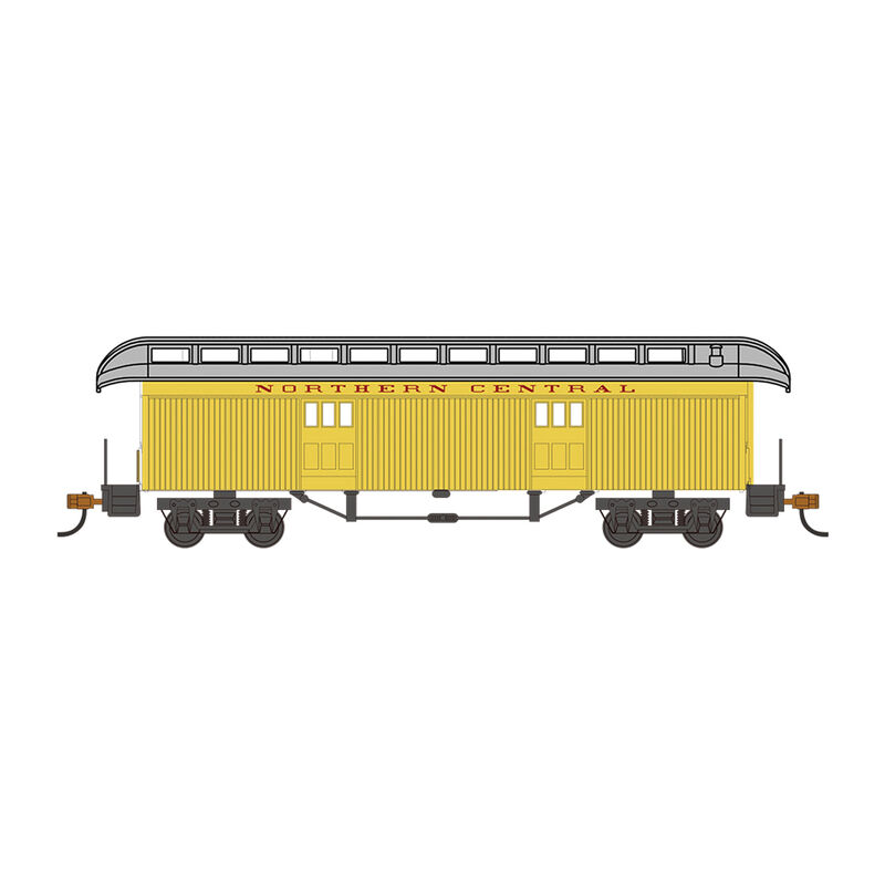 HO Old Time Baggage Car Northern Central Railway