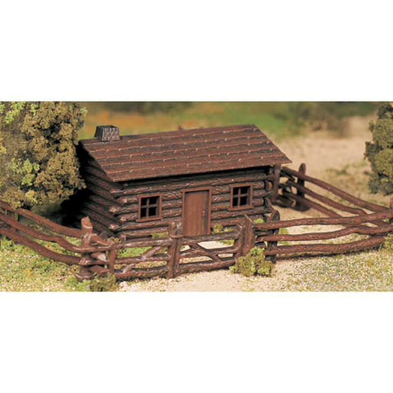 O Snap KIT Log Cabin w/Rustic Fence