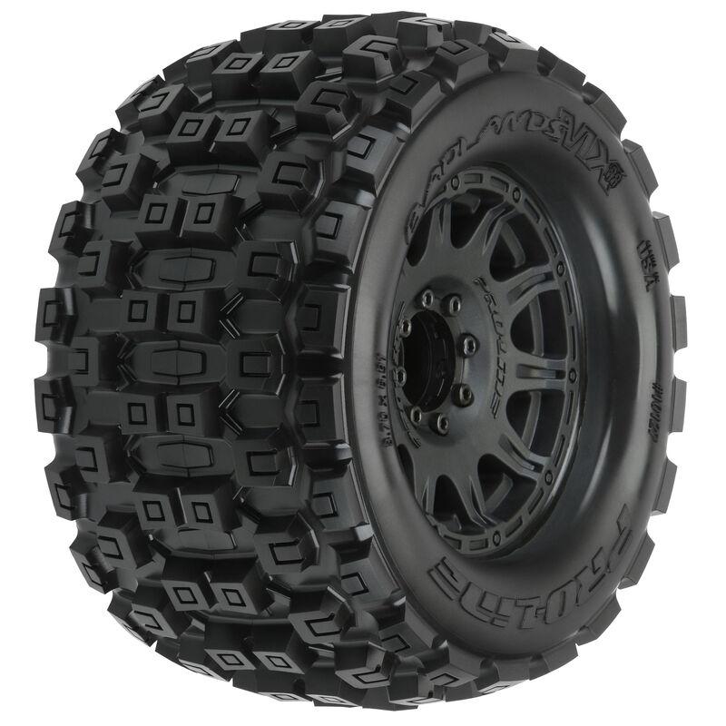 """Badlands MX38 3.8"""" Mounted Raid MT Tires, 8x32 17mm (F/R)"""