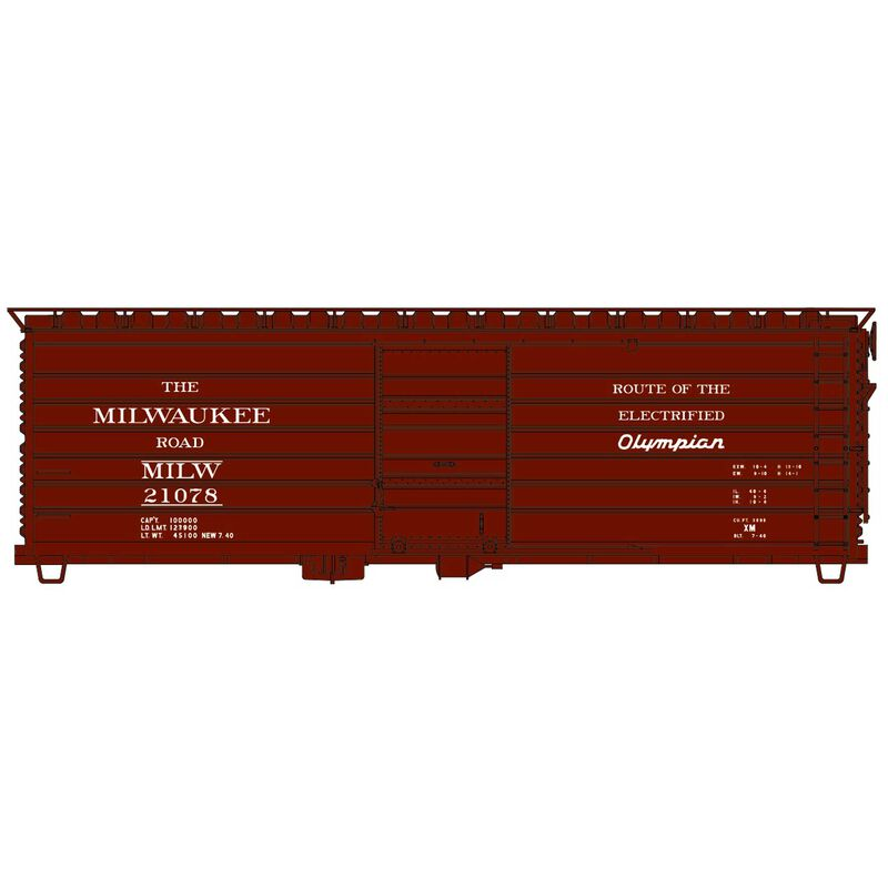HO Rib Side Steel Boxcar MILW Olympian