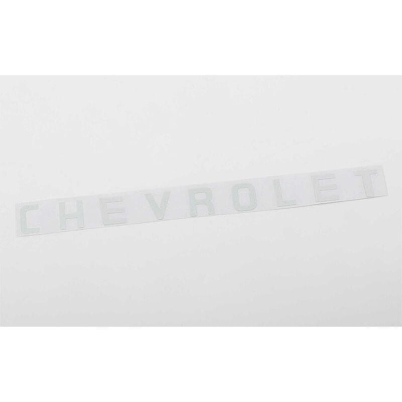 Rear Metal Logo: SCX10 II 1969 Chevy Blazer (White)