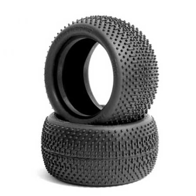 Rear Flip Outs Tire, Green: 2.2 Buggy (2)