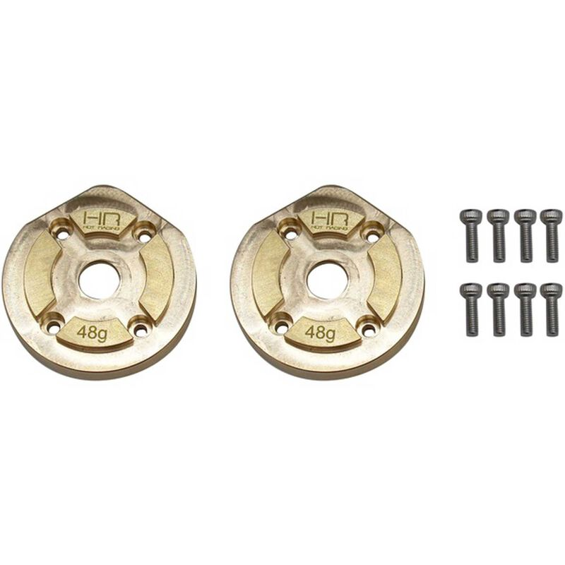 Brass Currie F9 Portal Steering Knuckle Caps: Axial UTB