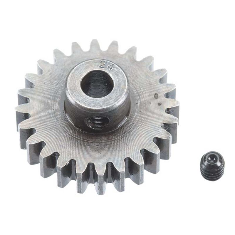 Extra Hard Steel 5mm Bore 1 Module Pinion, 24T