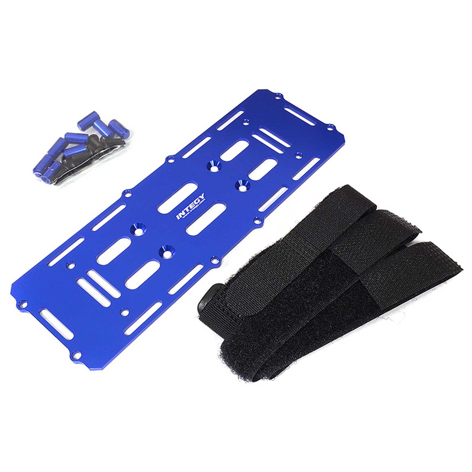 Battery Mounting Plate, Blue: 1/10 Enduro Sendero