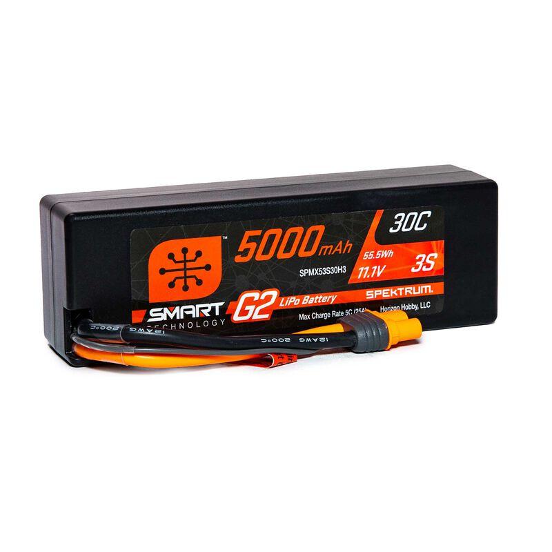 11.1V 5000mAh 3S 30C Smart LiPo G2 Hard Case: IC3