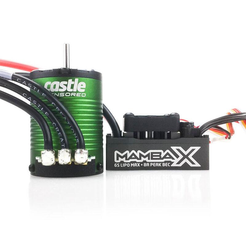 1/10 Mamba X Waterproof ESC/1406-6900Kv Sensored Brushless Motor Combo: 4mm Bullet