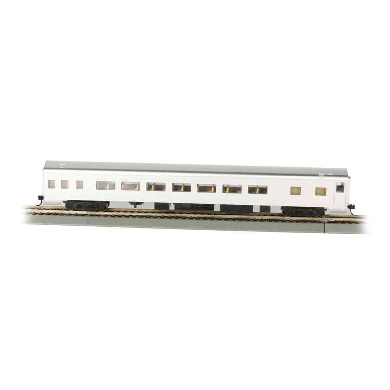 HO 85' Smooth Side Coach Undecorated Aluminum