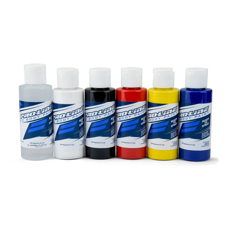 RC Paint Primary Color Set, Reducer/White/Black/Red/Yellow/Blue