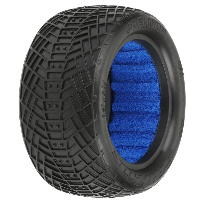 1/10 Positron 2.2 4WD Off-Road Buggy Rear Tires with Closed Cell Foam Inserts, S3 - Soft (2)