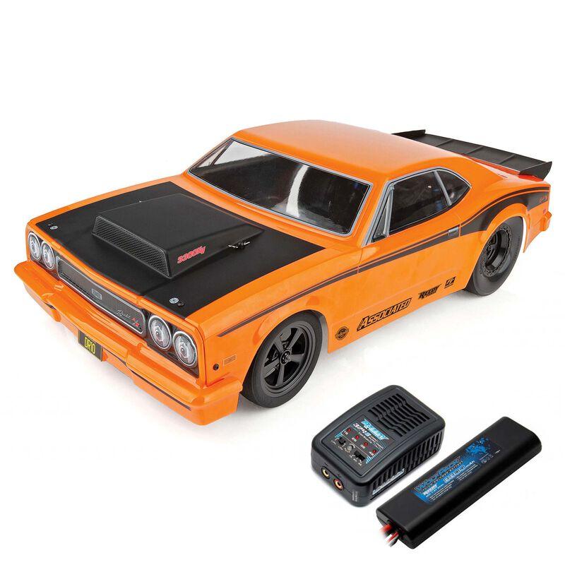 1/10 DR10 2WD Drag Race Car Brushless RTR, Orange, LiPo Combo