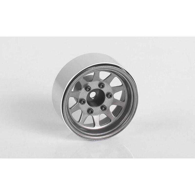 """OEM 6-Lug Stamped Steel 1.55"""" Beadlock Wheels (4)"""