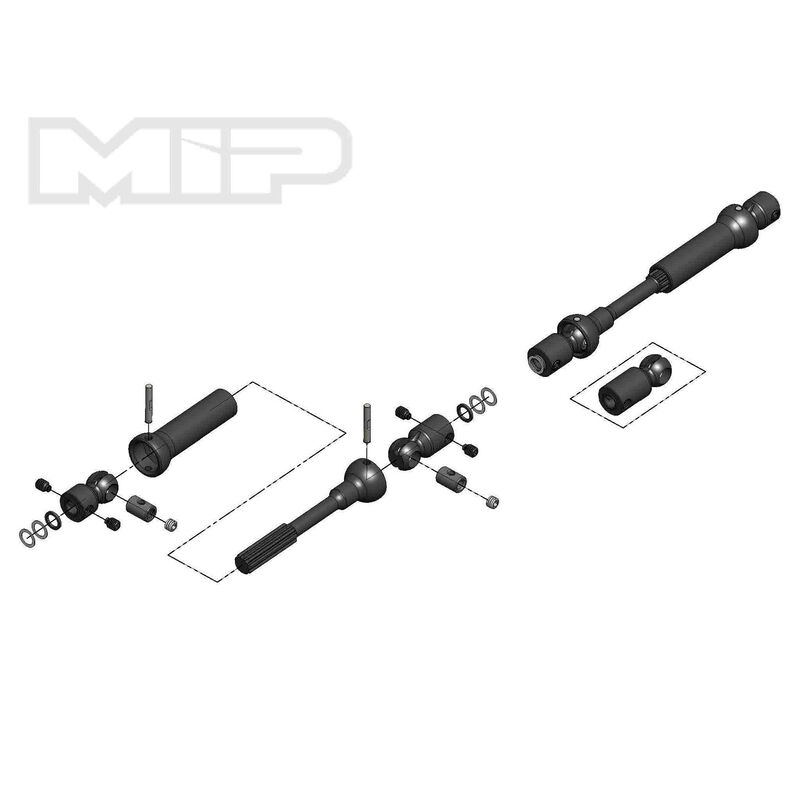Center Drive Kit 115mm - 140mm with 5mm Hubs