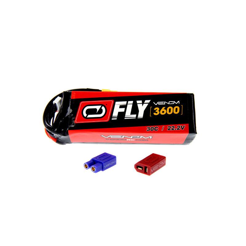 22.2V 3600mAh 6S 30C FLY LiPo Battery: UNI 2.0 Plug