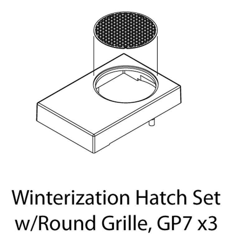 HO Winterization Hatch Set w/Round Grille, GP-7(3)