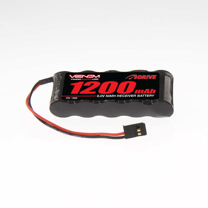 6.0V 1200mAh 5-Cell DRIVE NiMH Flat Receiver Battery: Universal Receiver