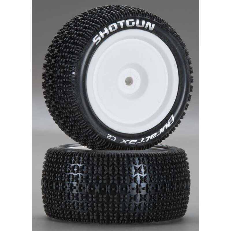 Shotgun 1/10 Mounted Buggy Tires 4WD Rear C2: ASC (2)