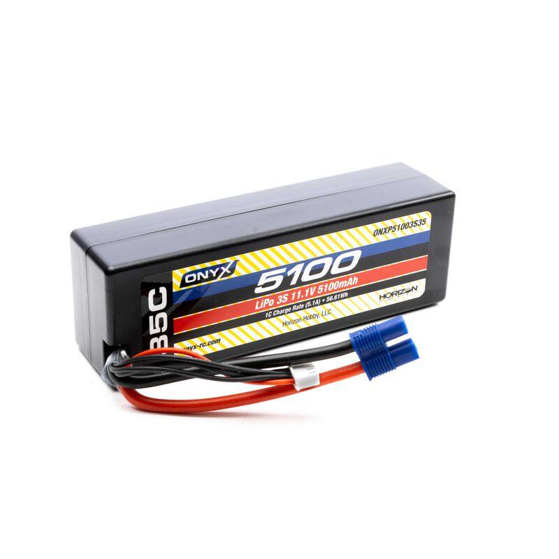 11.1V 5100mAh 3S 35C Hardcase LiPo Battery: EC3