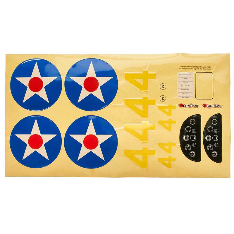 Decals Sport Scale PT-19 .46 GP EP ARF