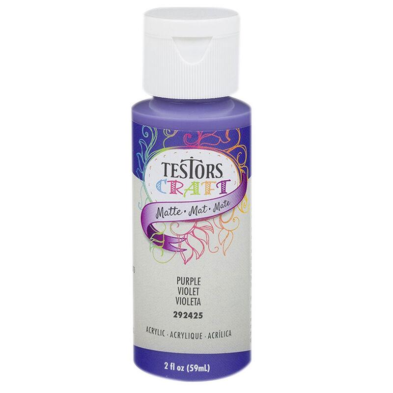 Testors 2oz Acrylic Craft Paint, Satin Purple