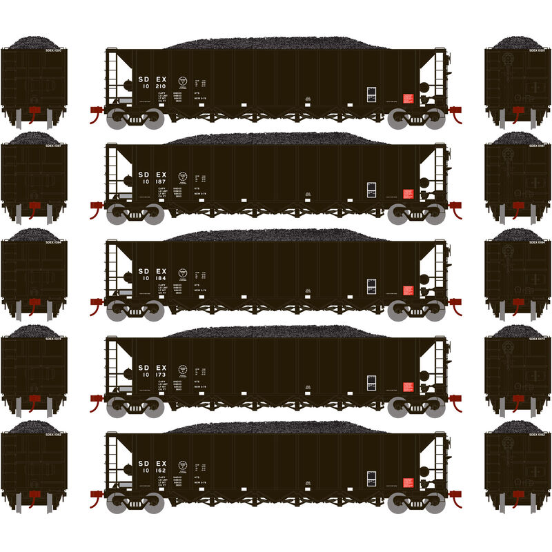 HO RTR 5-Bay Rapid Discharge Hopper SDEX #2 (5)