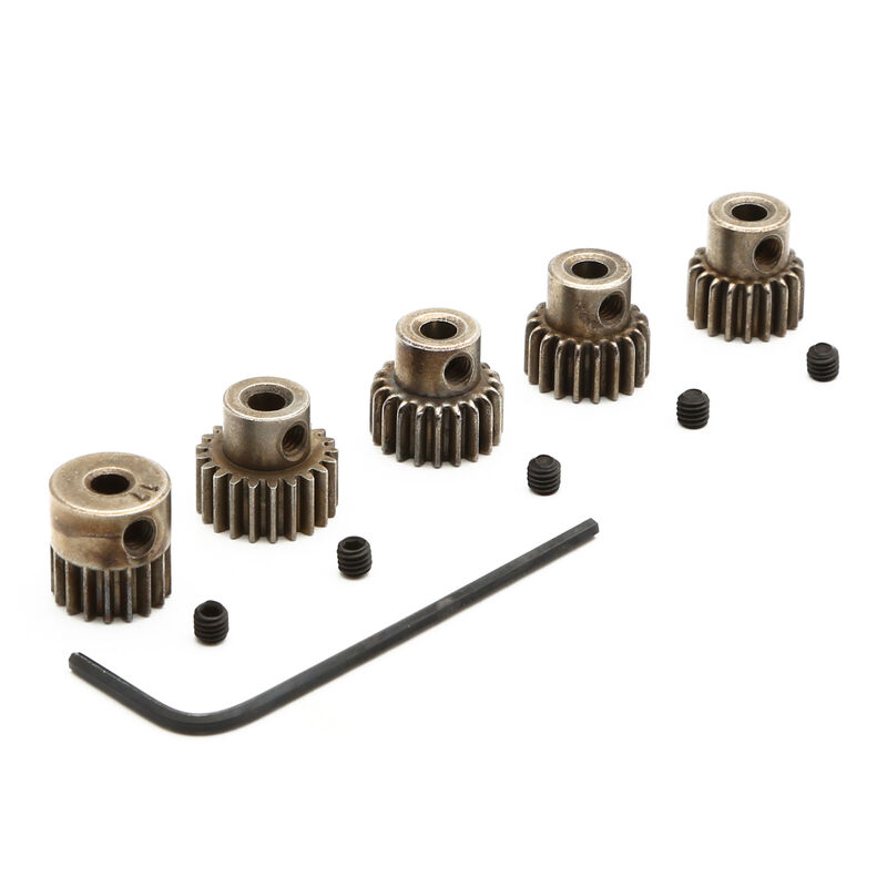 48P Pinion Gear Set: 17T, 18T, 19T, 20T, 21T
