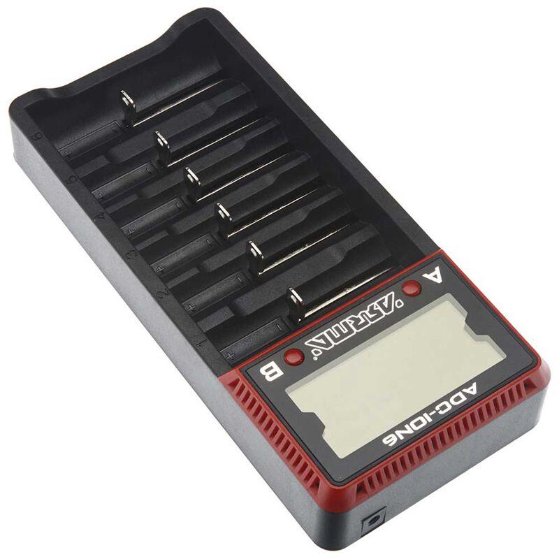AR390262 18650 Li-Ion 6-Bay Battery Charger
