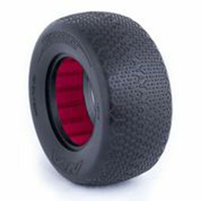 1/10 Typo SC Wide Clay Front/Rear Tire with Red Insert (2)