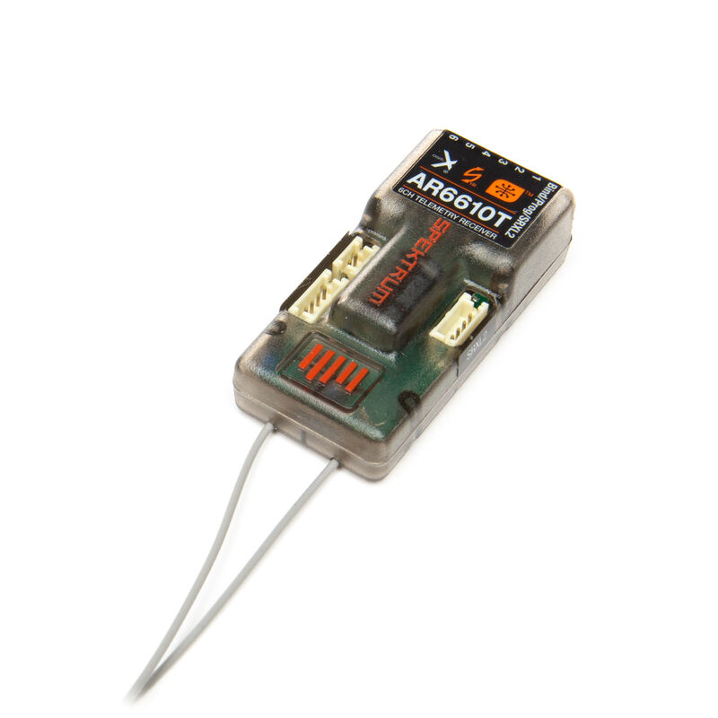 AR6610T DSMX 6-Channel Telemetry Receiver