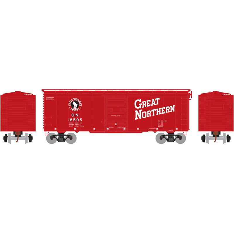 HO RTR 40' Youngstown Door Box, GN Red #18595