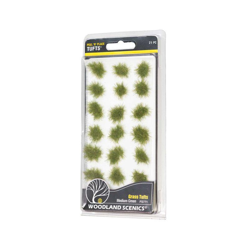 Medium Green Grass Tufts