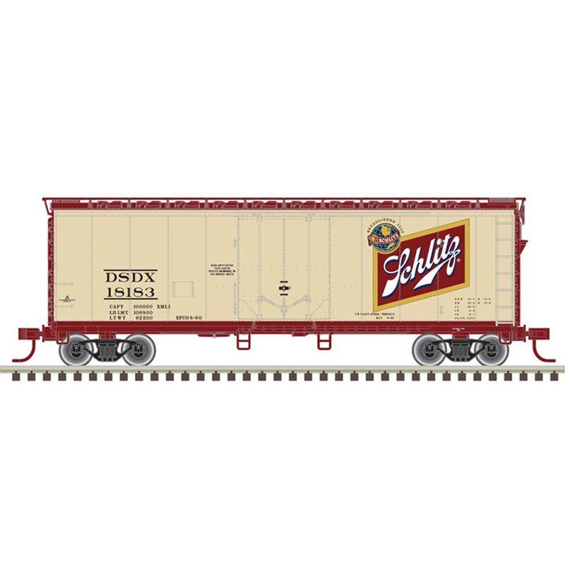 O 40' Box Car 2 Rail Schlitz 18156 18174