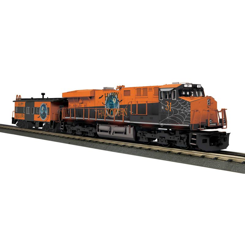O-27 Imperial ES44AC & Caboose with PS3 Halloween