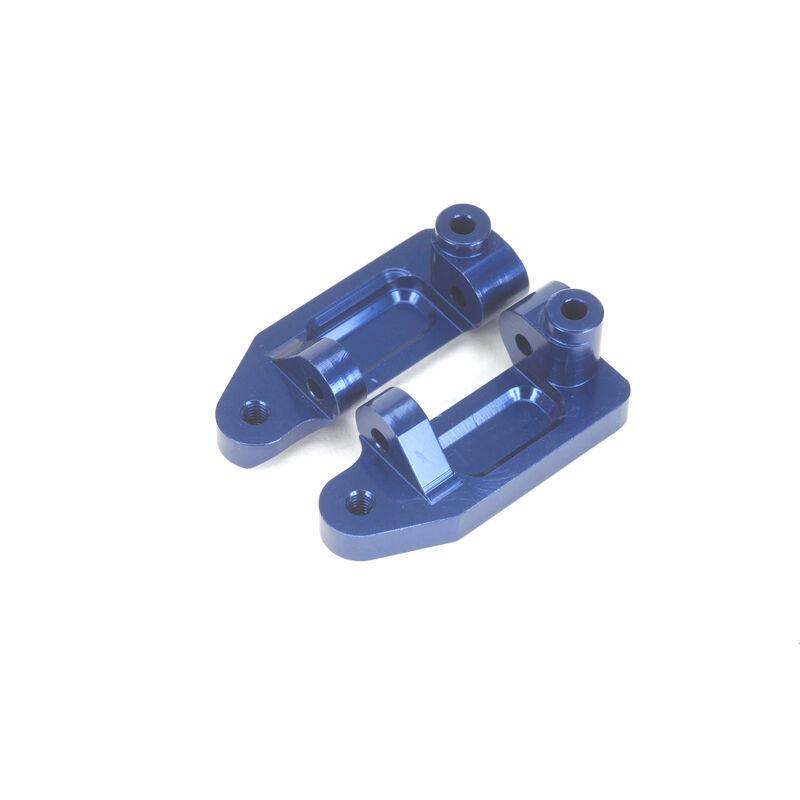 Aluminum Caster Blocks, Blue: Stampede, Rustler, Slash