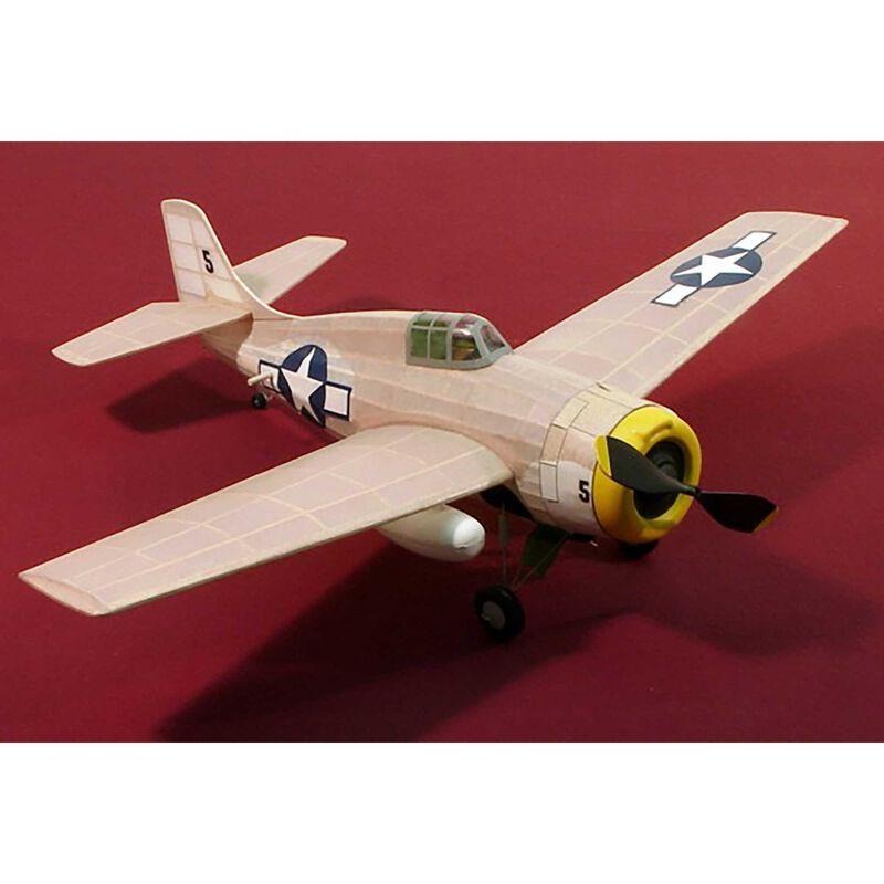 "F-4F Wildcat Rubber Powered Kit, 17.5"""
