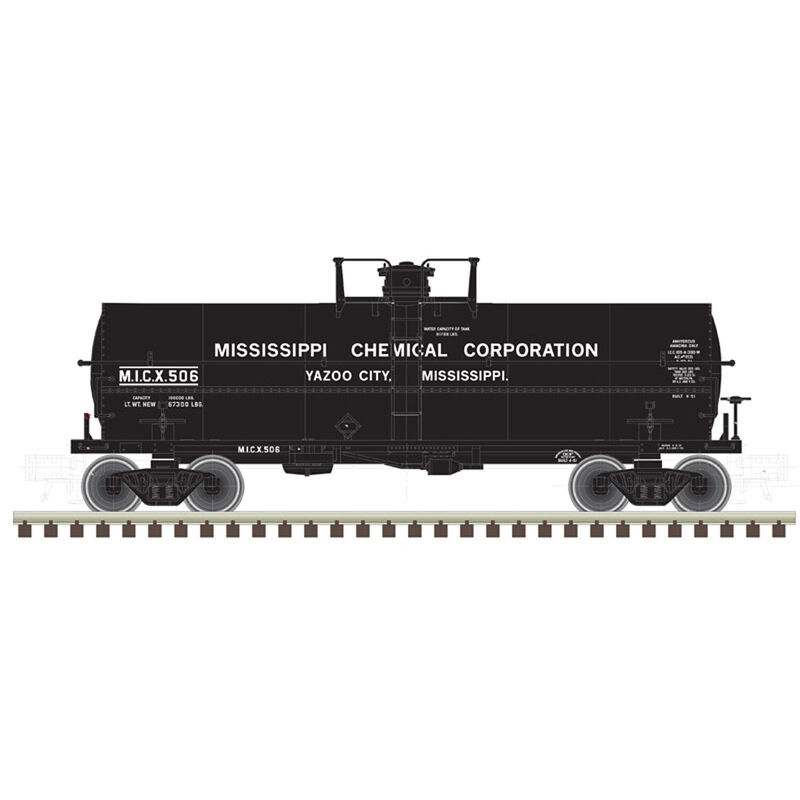 HO 11,000 Gallon Tank Car Mississippi Chemical#501