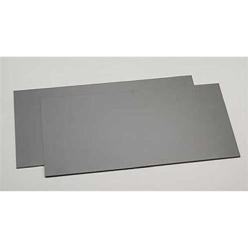 "Black Styrene Sheets, .04x6x12"" (2)"