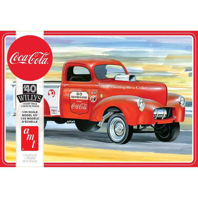 1/25 1940 Willys Pickup Gasser Coca Cola 2T